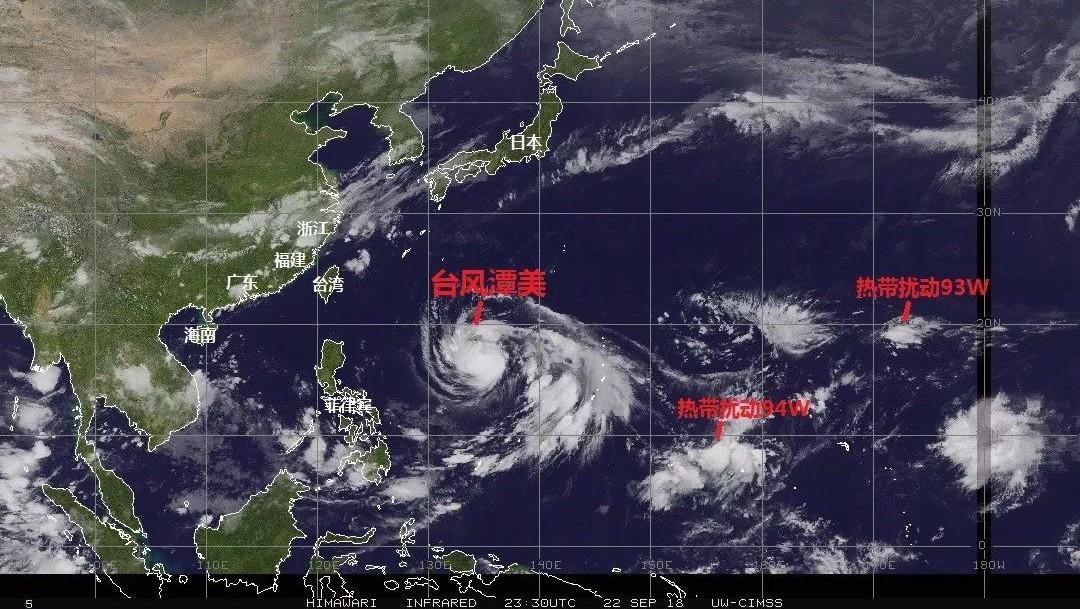"""特急!又登陆广东?超强台风""""潭美""""发威,直扑广东、福建,强度超16级!"""